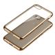 Capa Ultra Gel Slim Iphone 7 / 8 (4.7) Transparente / Dourada