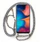 Capa Samsung Galaxy A20e Proof Air com Cordão Branco e Preto