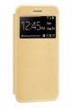 Capa Xiaomi Mi 10T Flip Alta Qualidade Dourado c/ Apoio e Janela