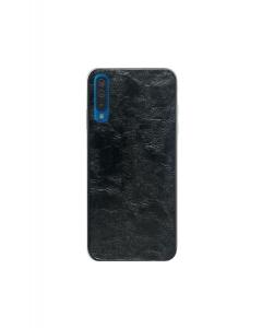 Capa Samsung Galaxy A70 Hibrida Estilo Couro Preto