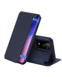 Capa Samsung Galaxy S20 Ultra Flip DX Skin Azul c/ Apoio