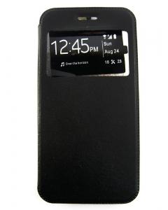 Capa Flip Alta Qualidade Iphone 7 Plus (5.5) Preta c/ Apoio e Janela