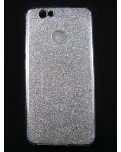 Capa Gel Brilhantes Huawei Nova Prateado