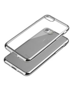 Capa Ultra Gel Slim Iphone 7 / 8 (4.7) Transparente / Prateada