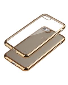 Capa Ultra Slim Gel Iphone 7 Plus (5.5) Transparente / Dourada