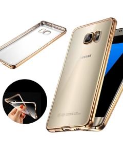 Capa Ultra Slim Gel Samsung S8 Plus Transparente / Dourado
