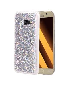 Capa Gel Glitter Samsung Galaxy A3 2017 A320F Prateado