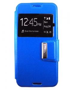 Capa Flip Alcatel A3 c/ Apoio e Janela Azul