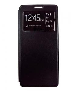 Capa Flip Alta Qualidade Samsung Note 8 Preta c/ Apoio e Janela