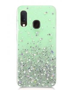 Capa Samsung Galaxy A20e Glitter Wsky Liquid Verde