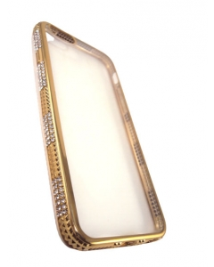 Capa Iphone 6 Gel Eletro Brilhantes Dourado