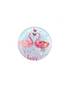 Suporte Pop Mobile Love Flamingos