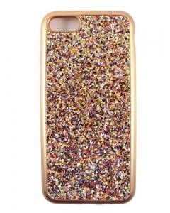 Capa Gel Brilhantes Coloridos Iphone 7 (4.7) Dourada