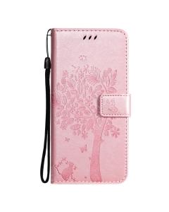 Capa Samsung Galaxy S21 Flip Tree Rosa com Apoio e Slot Cartões