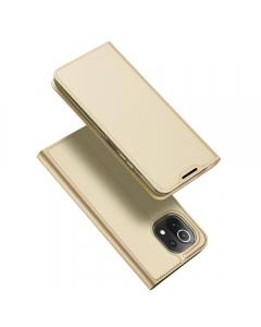 Capa Xiaomi Mi 11 Lite Flip DX Dourado com Apoio