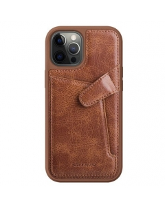 Capa Iphone 12 Pro Nillkin Aoge Castanho com Slot Cartão