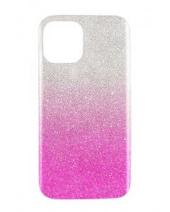 Capa Iphone 12 Pro Brilhantes Alta Qualidade Degradê Prateado Rosa