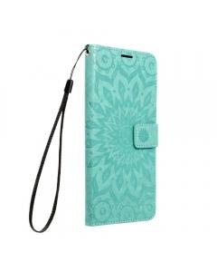 Capa Samsung Galaxy A12 Flip Mandala Verde com Apoio e Slot Cartões