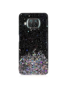 Capa Xiaomi Mi 10T Lite Glitter Wsky Liquid Preto